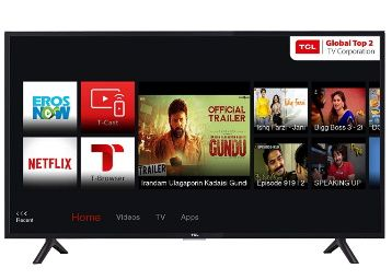 Flat 39% off on TCL 80 cm (32 Inches) HD Ready LED Smart TV 32S62S (Black) at Rs. 10999
